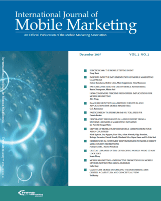 International Journal of Mobile Marketing (IJMM) Vol. 2 No. 2 Editors' Letter