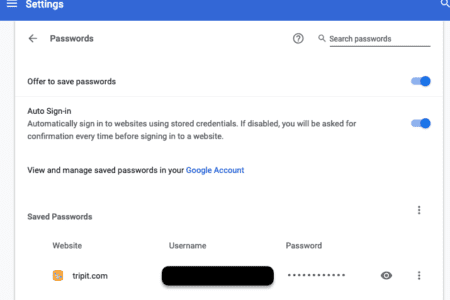 Exporting your passwords out of Google Chrome