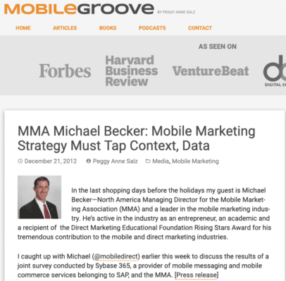 MMA Michael Becker: Mobile Marketing Strategy Must Tap Context, Data