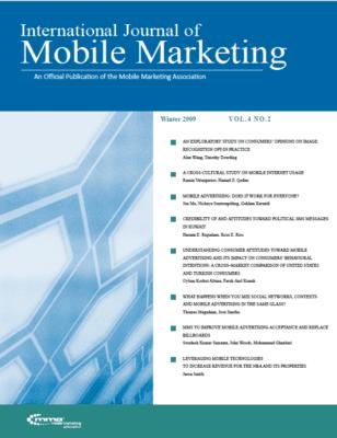 International Journal of Mobile Marketing (IJMM) Vol. 4 No. 2 Editors' Letter