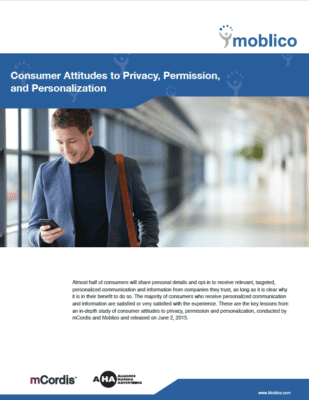 Consumer Attitudes to Privacy, Permission, and Personalization