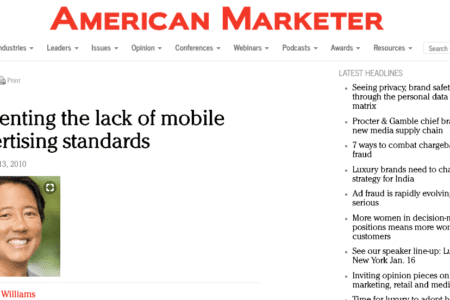 Lamenting the lack of mobile advertising standards